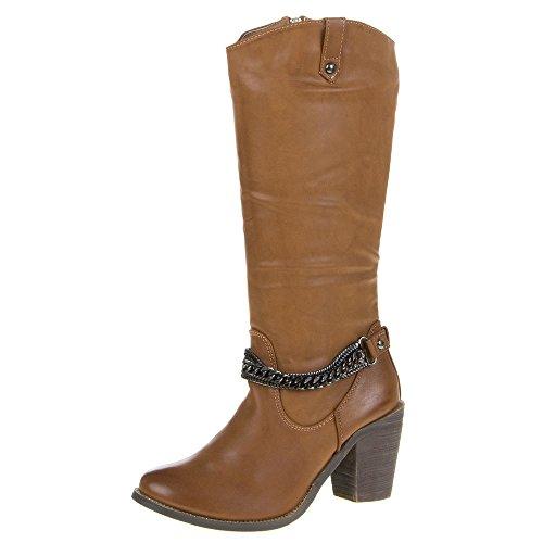 Damen Schuhe, TT-78, STIEFEL Camel