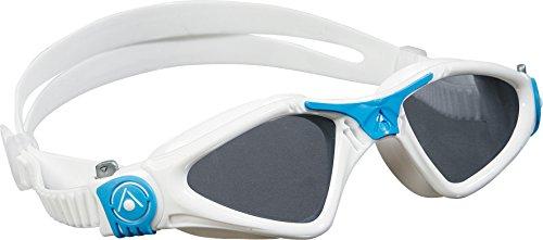 Schwimmbrille KAYENNE Small Taucherbrille Wassersport Kinder weiß blau getönt