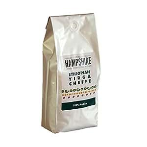 Hampshire Café Co–Yirgacheffe d'Éthiopie–Gagnant du Prix britannique Plat à rôtir–grains de café–Sac de 500g–100% Arabica grains