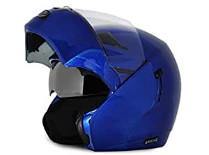 Vega Boolean Flip-up Helmet with Double Visor (Metalic, S)