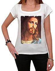 Jesus Christ Handsome T-shirt Femme,Blanc, t shirt femme,cadeau