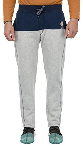 Superstar Men's Fleece Track Pant (AW03 NAVY GREY MELANGE--XXL, Grey, XX-Large)