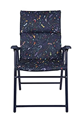 Mountain Warehouse Padded Folding Chair Garden Picnic Outdoor Beach Seat with Arms - cheap UK light store.
