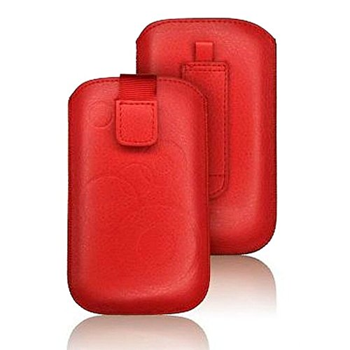 tag-24 Handy Tasche Deko Etui Schutzhülle passend für Swisstone BBM 320C rot (Tasche-tag)