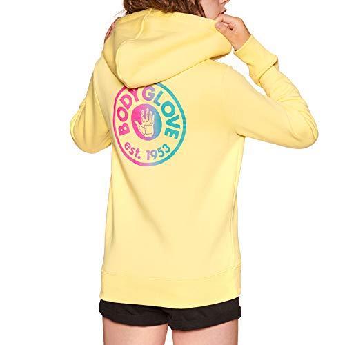 Pastel Yellow Label (Body Glove Established Hood Womens Pullover Hoody UK 12 Reg Pastel Yellow)