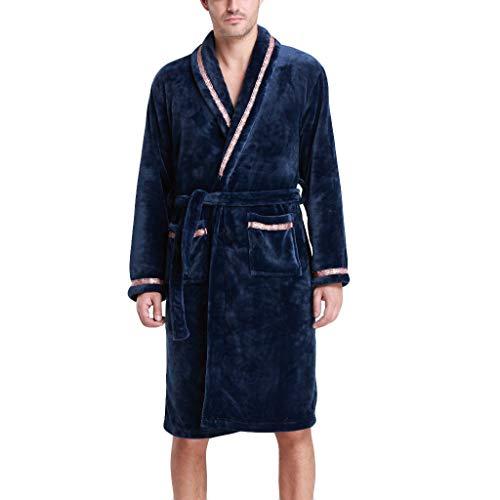 Cappotto di lana a maniche lunghe con cappuccio e accappatoio da uomo zarupeng inverno(marina militare,l)