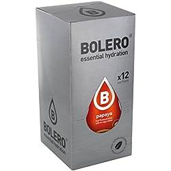 Paquete de 12 sobres bebida Bolero sabor Sabor Papaya