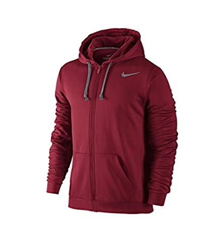 NIKE KO Full Zip Hoody 3,0 Sweat-shirt à capuche pour homme S Rojo / Gris (Gym Red/Cool Grey)