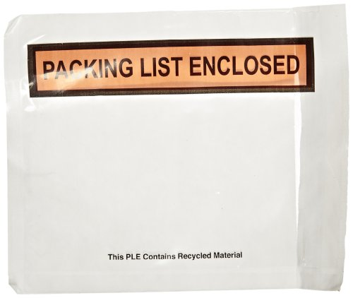 Nifty Produkte ppe6bl Verpackung Liste Umschlag,Liste geschlossen, mit 5–1/5,1cm Länge x 4–1/5,1cm Breite, Clear Face (1000Stück)
