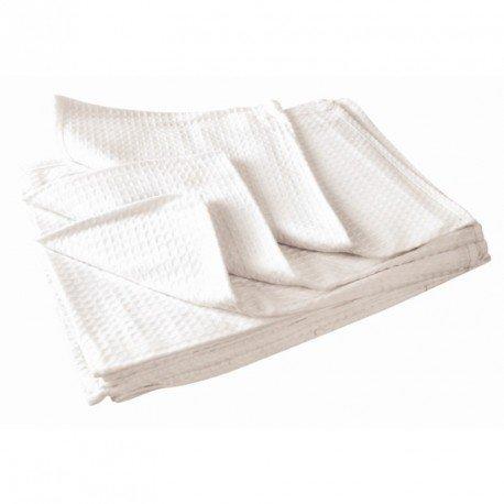 Jantex E944/Plat chiffons blanchi Blanc lot de 10