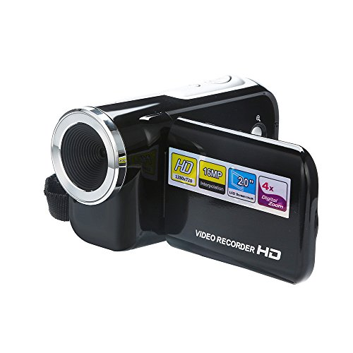 Colorful Camcorder Videokamera, HD 1080P Video Camcorder 16,0 MP 2,0 Zoll LCD Bildschirm Digitale Camcorder 4X Digital Zoom Pause Funktion Videorekorder