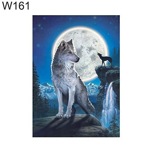 MajglgE Diamantmalerei, 30 x 40 cm, Adler, Hirsch, Fuchs, Giraffe, Kreuzstich DIY Vollrunde Diamantgemälde W161 -