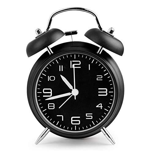AndThere Reloj Despertador Analogico de Cuarzo Silencioso sin Tictac Despertador Vintage Retro Alarma...