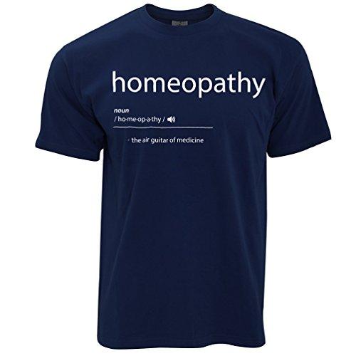 Homöopathie Die Luftgitarren-of Medicine Printed Slogan Zitat Entwurf Herren T-Shirt