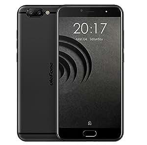 Ulefone Gemini Pro - Android 7,5 pollici FHD schermo 4G smart Helio X27 Deca Core 2.6GHz, 4GB RAM + 64GB ROM, fotocamere triple (fotocamera frontale 8MP e fotocamera posteriore SONY IMX258 13MP + 13MP) Impronta digitale Tipo-C - Nero