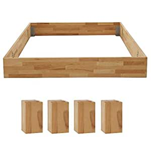 dico massivholz bettrahmen ohne kopfteil komforth he gr e 200 x 220 cm b cher. Black Bedroom Furniture Sets. Home Design Ideas
