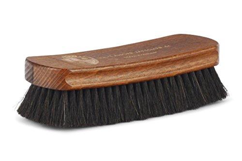 Langer & Messmer Schuhbürste aus dunklem Rosshaar zum Polieren Ihrer Schuhe - Die Polierbürste für die professionelle Schuhpflege -