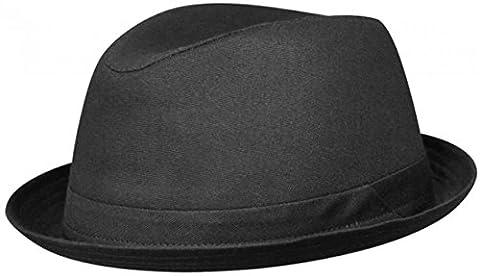 KANE SCHWARZ Player Hut Playerhut mit UV-Schutz aus Baumwolle von Stetson - 58