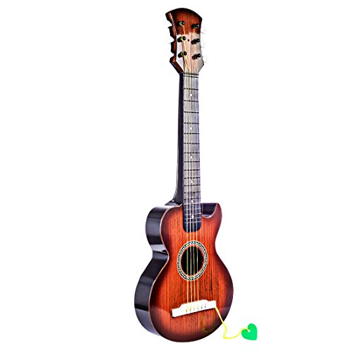 BANDRA Guitarra acústica infantil 66cm Guitarra Clásica con 6 cuerdas para niños 3-9 años
