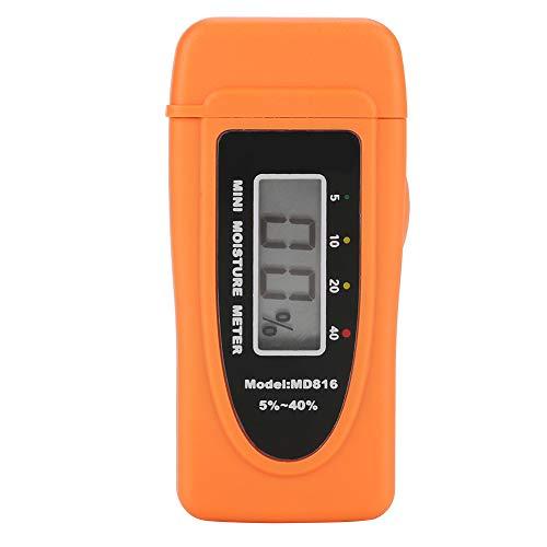 Akozon MD816 Digital LCD 2 Pin Holzfeuchtemessgerät Hygrometer Holzfeuchtemessgerät Detektor