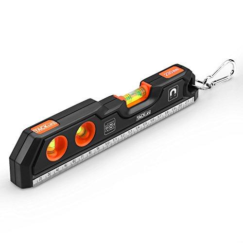 Tacklife MT-L05 Klassischer Wasserwaage mit Magnet und horizontaler, vertikaler und 45-Grad-Libelle(Genauigkeit: +/- 0,5mm/m, Größe: 230 mm, Material: Aluminiumlegierung + ABS)