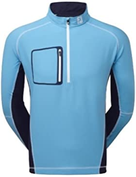 Footjoy Fj Performance Wind Shell Mid Layer Jersey, Hombre, Azul, X-Large (Tamaño del Fabricante:XL)