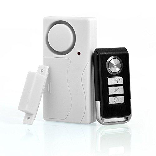 Neuftech 1X Tür Fensteralarm Alarmanlage Sicherheit System mit FUNK Fernbedienung und Magnetsensor