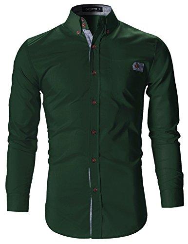 FLATSEVEN -  Camicia da cerimonia  - Uomo SH1780 Verde