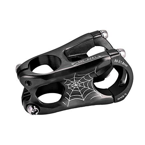 Nancunhuo Fahrrad Vorbau Aluminium 31,8 * 50mm Mountain Road Bike Lenker Vorbauten Fahrrad Vorbau (Farbe : Black) -