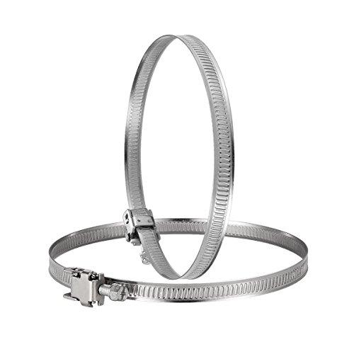 Hon&Guan Edelstahl Schlauch Clip verstellbar Worm Drive Schlauch Klemme für Inline Staub Fan - 2 Stück (125mm)