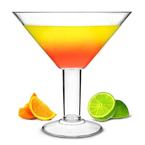 Grande Acryl Martini Glas 73oz/2L–25cm Übergroße Cocktail-Glas aus Kunststoff ideal für tafelaufsätze