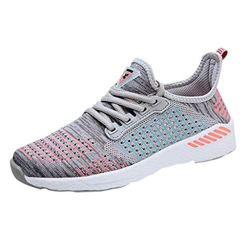 BaZhaHei Sneakers Donna Scarpe a Rete,Student Respirabile Piatte Scarpe Sportivo Donne Leggere Scarpe da Corsa Casual Scarpe da Lavoro Running Fitness Shoes con Sportive All'aperto 36-40