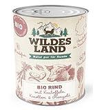 Wildes Land Hundefutter Nassfutter BIO Rind mit Kartoffeln Karotten Mangold 800g (18 x 800g)