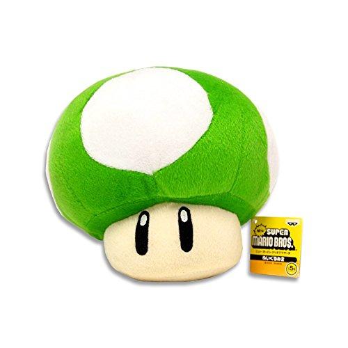 (Super Mario Bros. Anime Vert Champignon en peluche)
