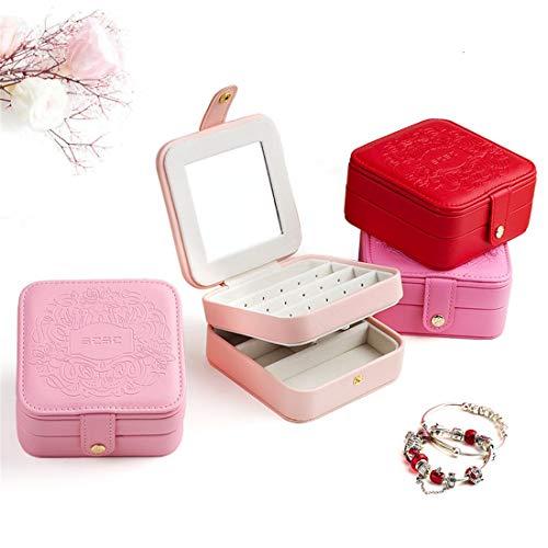 Easy Go Shopping Schmuckschatulle Portable Mini Cute Travel Einfache Schmuck Aufbewahrungsbox Möbeldekoration (Color : Multi-Colored) Go Portable Mini