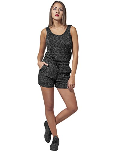 Urban Classics Damen Jumpsuit Ladies Melange Hot, Mehrfarbig (Darkgrey/Grey 488), X-Large - 2