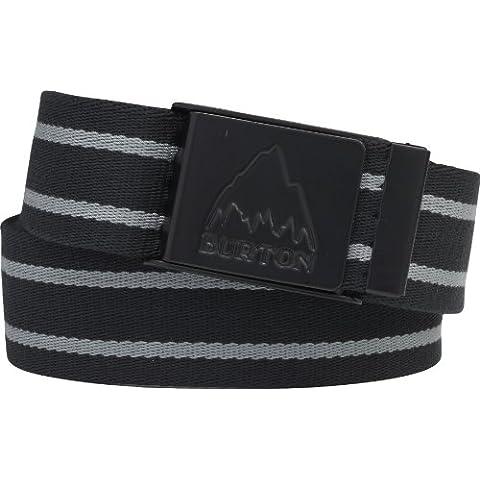 Burton Gürtel Striper Webbing Belt - Prenda para hombre, color negro, talla Talla única