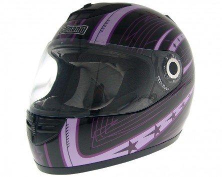 Wangenpolster Einstellbare (Integralhelm, Rollerhelm, Motorradhelm WACHMANN WA-20 Eques lila / schwarz XS)