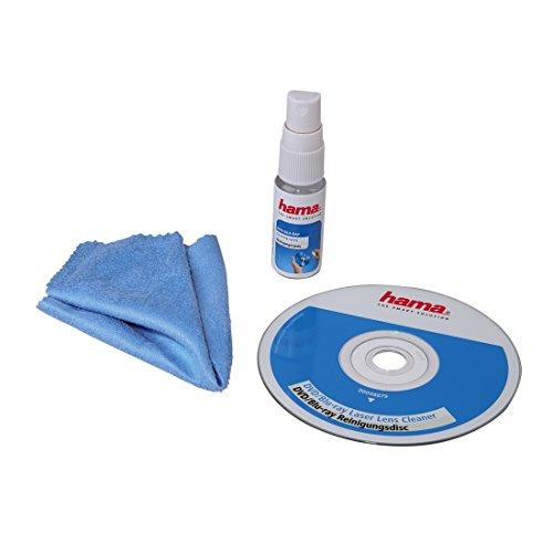 Hama DVD und Blu-ray Reinigungsset (Reinigungsdisc, 20ml Reinigungsspray und Mikrofasertuch) 3-teiliges
