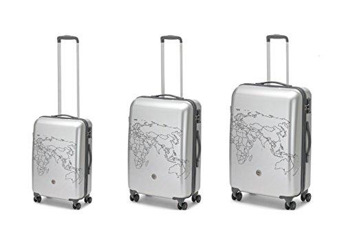 Set 3 trolley roncato ciak todo ii - 4 ruote - tsa - silver