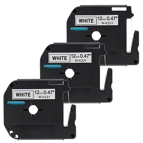 2 Jahre Garantie Vorteile (Unistar 3x Schriftband Kompatibel für Brother MK231 12mm Weiß auf Schwarz12mm Breit 8m Länge/Label cassette/laminierfolien/2 Jahre Garantie)