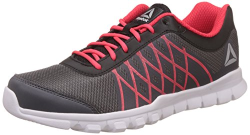 Reebok Men's Ripple Voyager Xtreme Ash Grey/Blk/Glow Red Running Shoes - 6 UK/India (39 EU) (7 US)