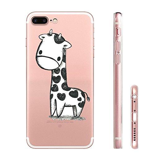 IPHONE 7 Hülle Flamingos Katze Giraffe Weich Silikon TPU Schutzhülle Ultradünnen Case für iPhone 7 Schutz Hülle Giraffe