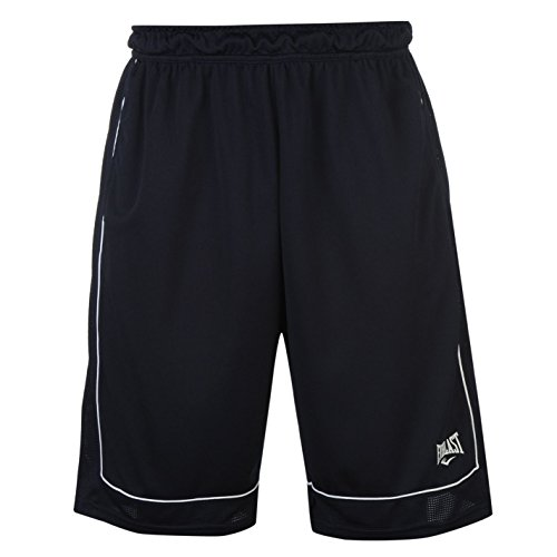 Everlast Herren Basketball Shorts Locker Kurze Hose Sporthose Sport Bekleidung Navy/White Medium