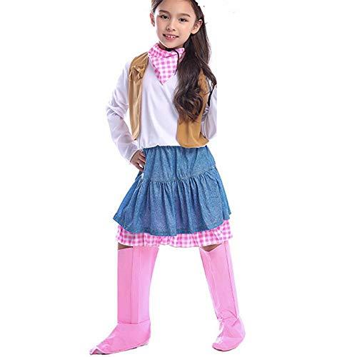 GUAN Mädchen Jeansrock Abenteuer Cosplay Kostüm Cosplay Thema Party Game - Wild Themen Kostüm