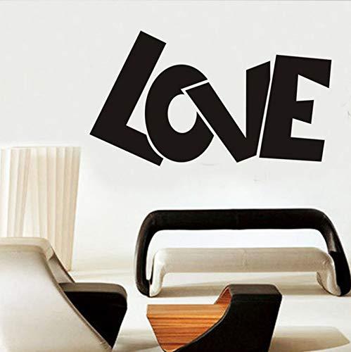 captain_y Wandaufkleber Valentinstag Liebe Kreative PVC Wohnzimmer Home Schlafzimmer Dekoration wasserdichte Aufkleber Abnehmbare Kunst Aufkleber Selbstklebend -