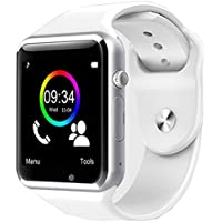 Zomtop Wearable Bluetooth Smart Watch GT08 Smart Health Wrist Watch Phone with SIM Card Slot for Android Samsung HTC LG SONY [Full Functions] IOS iPhone 5/5s/6/plus[Partial functions](White)