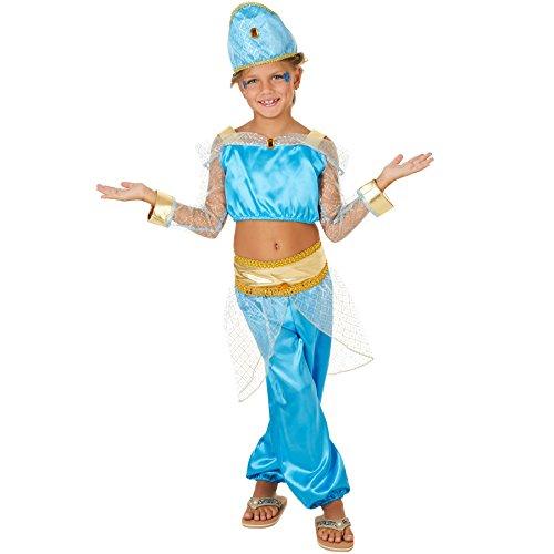 dressforfun Costume da Bambina - Principessa Araba | Parte Superiore Corta e Graziosi Pantaloni Harem | Incl. Fantastico Copricapo con Velo (11-12 anni | No. 300971)