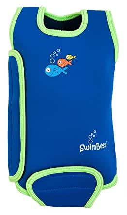SwimBest Baby Wetsuit / Baby warmer wrap / Girls & Boys - 0-6 , 6-12 & 12-24 months ... (0-6 months, Blue/Lime)