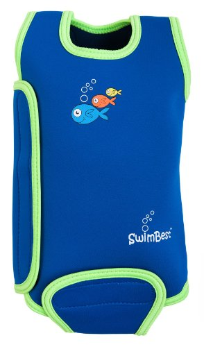 SwimBest Baby Wetsuit Blue/Green 12-24 months Best for swimming pools & beach, keeps baby warm in water